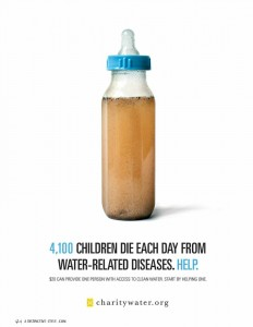 Charity Water ad