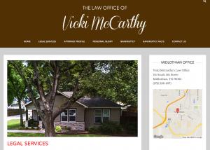 Vicki McCarthy Website